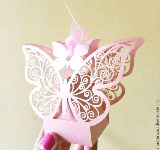 Упаковка ручной работы. Ярмарка Мастеров - ручная работа. Купить Бонбоньерки свадебные Бабочки Коробочки для упаковки на свадьбу. Handmade. Коробочка