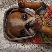 Куклы и игрушки ручной работы. Ярмарка Мастеров - ручная работа бульдожка ЯНА-собака реборн. Handmade.