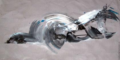 Абстракция ручной работы. Ярмарка Мастеров - ручная работа. Купить На всякого дурака ума не напасешься - Оригинальная абстракция, АукцЫон. Handmade.