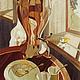Натюрморт ручной работы. Ярмарка Мастеров - ручная работа. Купить Картина Натюрморт с самоваром в технике маркетри. Handmade. Художественное панно