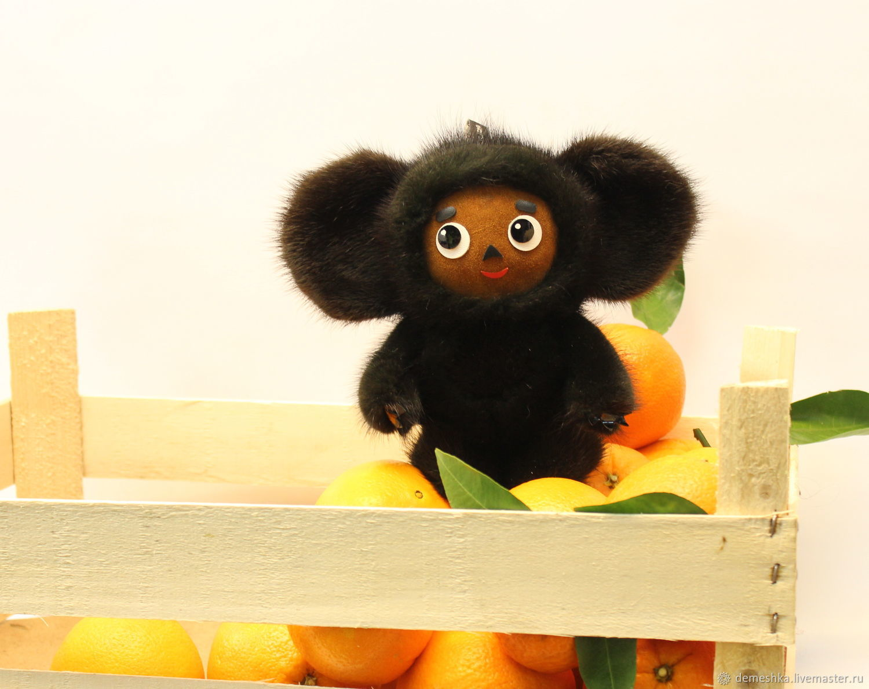 Чебурашка из нат. меха норки, Мягкие игрушки, Москва,  Фото №1