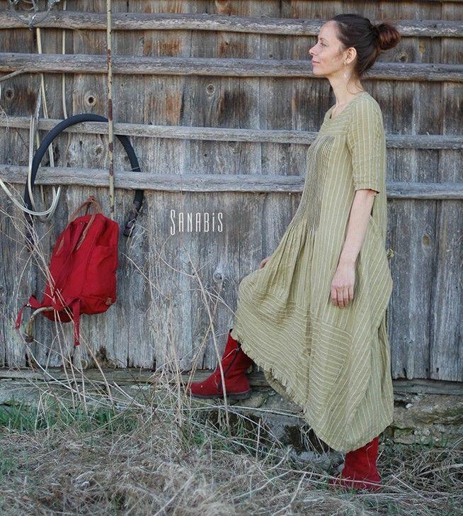 Льняное платье «Оливковое», Платья, Кисловодск, Фото №1