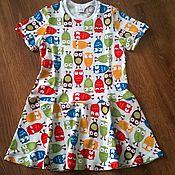 """Работы для детей, ручной работы. Ярмарка Мастеров - ручная работа Летнее платье """"совушки"""". Handmade."""