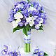 """Свадебные цветы ручной работы. Ярмарка Мастеров - ручная работа. Купить Букет невесты """" Iris rainbow"""". Handmade. Цветы"""