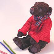 Куклы и игрушки ручной работы. Ярмарка Мастеров - ручная работа Осенний Арсений мишка тедди. Handmade.