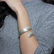 Украшения handmade. Livemaster - original item Minima Series Curl bracelet in brushed silver ASH0009. Handmade.