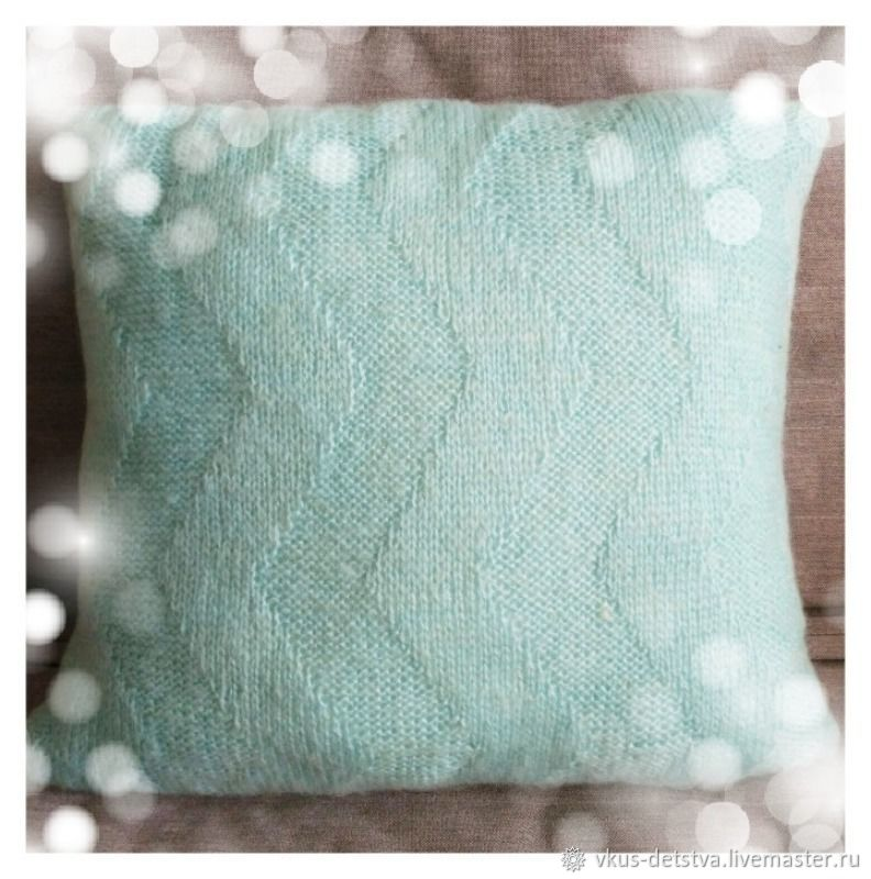 Knitted sofa cushion for relaxation, Pillow, Yaroslavl,  Фото №1