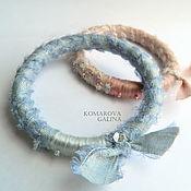 Украшения handmade. Livemaster - original item Textile bracelets silk boho