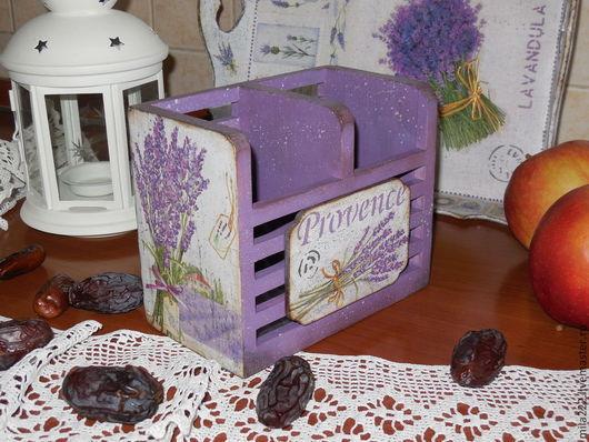 """Кухня ручной работы. Ярмарка Мастеров - ручная работа. Купить """"Мой Прованс"""" подставка для ..... Handmade. Фиолетовый, винтажный стиль"""