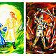 Фантазийные сюжеты ручной работы. Иллюстрации и портреты персонажей книг. Елена Хеидзе. Интернет-магазин Ярмарка Мастеров. Иллюстрации на заказ