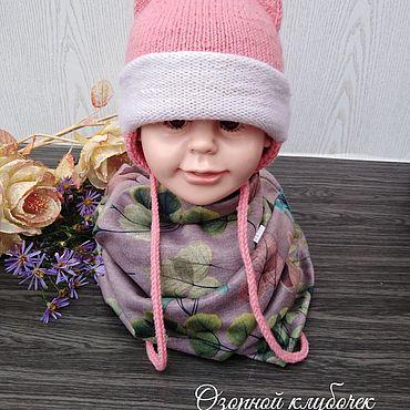 Товары для малышей ручной работы. Ярмарка Мастеров - ручная работа Шапки: Детская шапка с ушками. Handmade.
