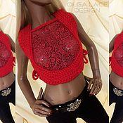 Одежда handmade. Livemaster - original item Knitted vest from Olga Lace. Handmade.