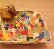 """Посуда ручной работы. Ярмарка Мастеров - ручная работа """"Мозаика"""" тарелочка керамическая. Handmade."""