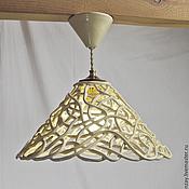 Для дома и интерьера handmade. Livemaster - original item Martini Bianco - the lamp is ceramic on a short suspension d32cm. Handmade.