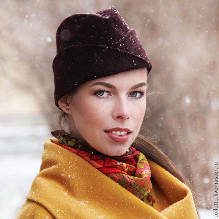 Шапка-пилотка с отворотами, Пилотки, Екатеринбург,  Фото №1