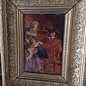 Винтаж ручной работы. Ярмарка Мастеров - ручная работа Старинная картина. Handmade.