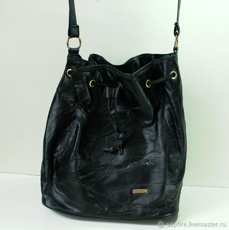 9a7e1971410c Винтажные сумки и кошельки. Ярмарка Мастеров - ручная работа. Купить Винтаж:  Кожаная сумка ...
