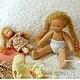 Вальдорфская игрушка ручной работы. Малышка с кукленком, 13 см и 7 см. svetlana. Ярмарка Мастеров. Натуральные материалы, хлопок