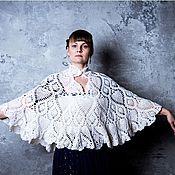 Одежда ручной работы. Ярмарка Мастеров - ручная работа Пончо-шаль Нежность. Handmade.