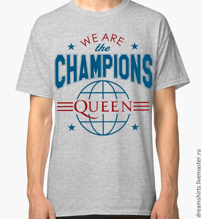 "Футболка с принтом ""Queen - We Are The Champions"", T-shirts, Moscow,  Фото №1"