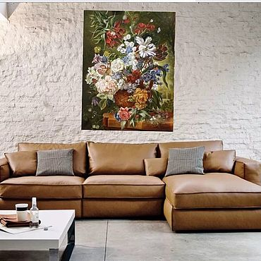 Для дома и интерьера ручной работы. Ярмарка Мастеров - ручная работа Картина Букет цветов в терракотовой вазе. Handmade.