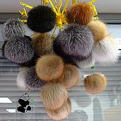 Материалы для творчества handmade. Livemaster - original item Fur POM-poms of fur red Fox, raccoon, Fox.. Handmade.