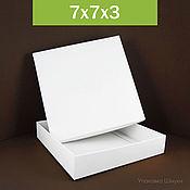 Коробки ручной работы. Ярмарка Мастеров - ручная работа 7х7х3 см, коробки самосборные белые без логотипа. Handmade.