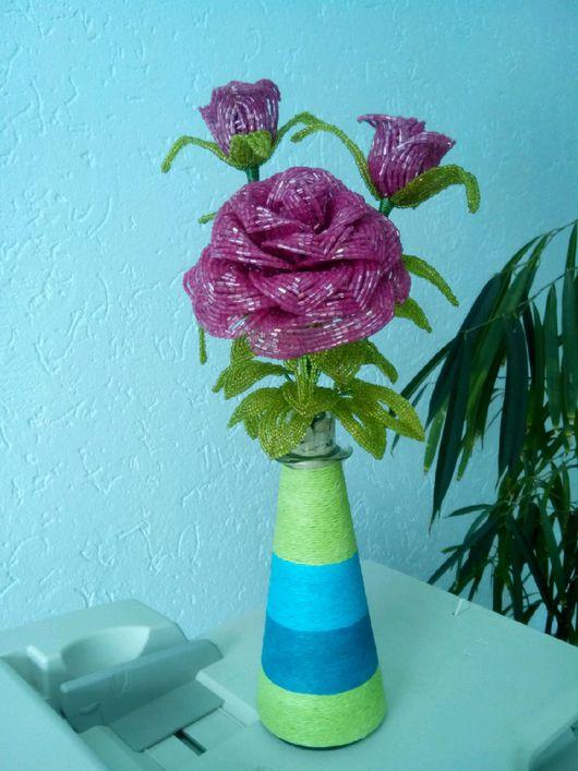 Цветы ручной работы. Ярмарка Мастеров - ручная работа. Купить Роза из бисера.. Handmade. Роза из бисера, подарки ручной работы