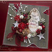 """Открытки ручной работы. Ярмарка Мастеров - ручная работа Открытка """"Новогодние пожелания"""". Handmade."""