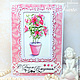 Открытки на все случаи жизни ручной работы. Ярмарка Мастеров - ручная работа. Купить Открытка C Днем Рождения розовый букет. Handmade.