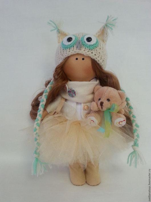 Коллекционные куклы ручной работы. Ярмарка Мастеров - ручная работа. Купить интерьерная кукла. Handmade. Бежевый, кукла интерьерная, хлопок