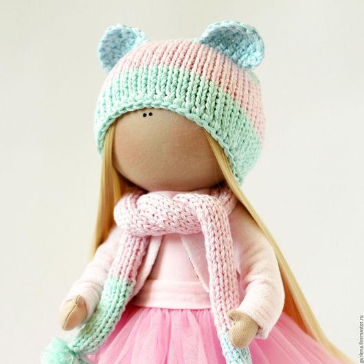Коллекционные куклы ручной работы. Ярмарка Мастеров - ручная работа. Купить Кукла текстильная. Кукла интерьерная.. Handmade. Розовый