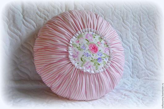 Текстиль, ковры ручной работы. Ярмарка Мастеров - ручная работа. Купить Подушка Шебби-шик круглая. Handmade. Подушка круглая