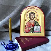 Картины и панно handmade. Livemaster - original item The Lord Almighty.Hand painted icon on gold. Handmade.