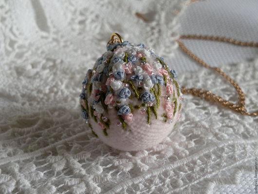 """Кулоны, подвески ручной работы. Ярмарка Мастеров - ручная работа. Купить Кулон """" Розовый цветочный шар"""". Handmade. Розовый"""