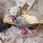 """Куклы и игрушки ручной работы. Ярмарка Мастеров - ручная работа Мишка в шляпке""""Медвежьи ушки"""". Handmade."""