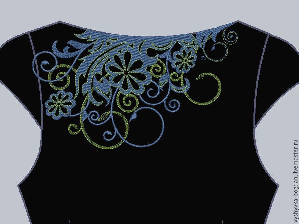 Дизайны вышивки на платье