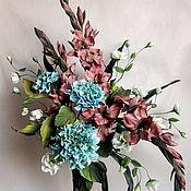 """Цветы и флористика ручной работы. Ярмарка Мастеров - ручная работа Букет """"Минди"""", Цветы из шелка,цветы из ткани.. Handmade."""