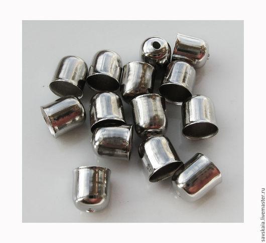 Концевик для украшений 8 x 7 mm Для жгута или шнура  6 mm