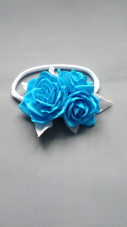 Повязка голубые розы, Аксессуары для фотосессии, Нижний Новгород,  Фото №1