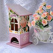 """Для дома и интерьера ручной работы. Ярмарка Мастеров - ручная работа Чайный домик """"Розовый зефир"""". Handmade."""