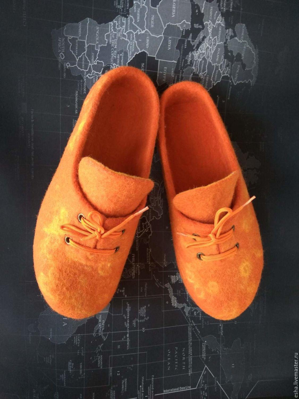 """Валяные тапочки """"Оранжевое настроение"""", Обувь, Самара, Фото №1"""