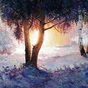Картины и панно handmade. Livemaster - original item Oil painting Landscape Pervy ina. Handmade.
