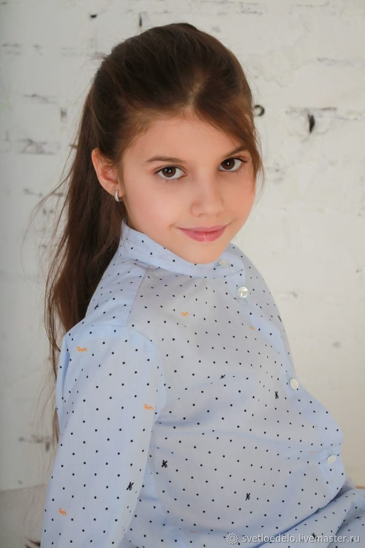 Платье-рубашка для девочки бордо