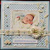 Открытки ручной работы. Ярмарка Мастеров - ручная работа С новорожденным. Handmade.