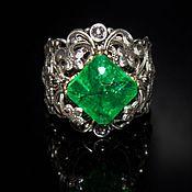 Украшения handmade. Livemaster - original item Ring adjustable natural Colombian Emerald handmade. Handmade.