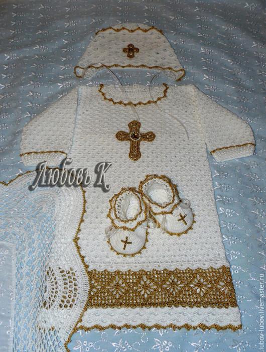 Цена  вязанного комплекта  от 3000 р. (чепчик,пинетки , платье-рубашка)