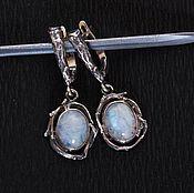 Украшения handmade. Livemaster - original item earrings with moonstones. Handmade.