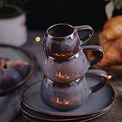 Посуда handmade. Livemaster - original item teacups: Vulkan mug 100ml, 200 ml, 300 ml. Handmade.