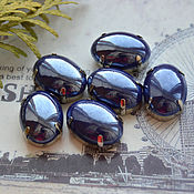 Материалы для творчества handmade. Livemaster - original item Mother of pearl rhinestone southern night 13h18 mm oval. Handmade.
